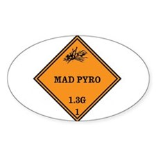Mad Pyro Placard Decal