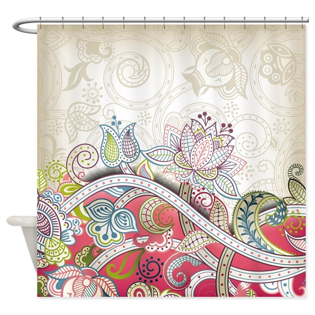 Vintage Floral Pattern Shower Curtain By BestShowerCurtains