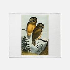 John Cassin California Owl Throw Blanket