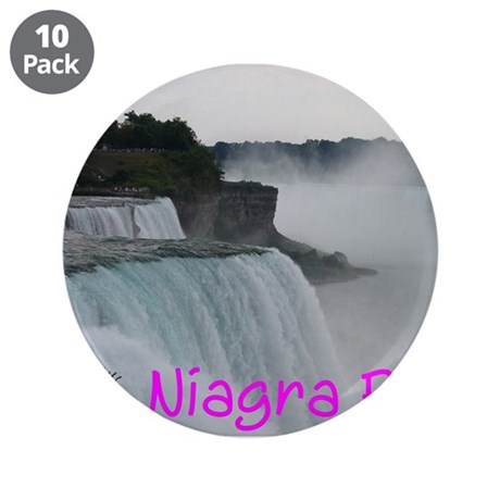 "NIAGRA FALLS X™ 3.5"" Button (10 pack)"