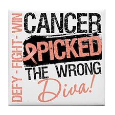 Cancer Wrong Diva Tile Coaster