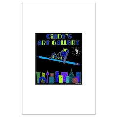Night Cindy (blu/grn) Posters