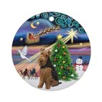 Xmas Magic & Welsh Terrier Ornament (Round)