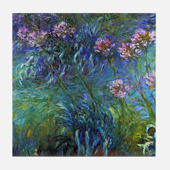 Claude Monet Jewelry Lilies Tile Coaster