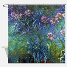 Claude Monet Jewelry Lilies Shower Curtain