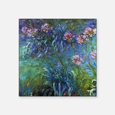 "Claude Monet Jewelry Lilies Square Sticker 3"" x 3"""