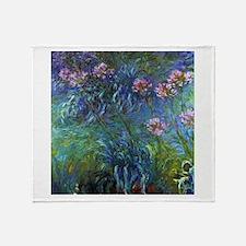 Claude Monet Jewelry Lilies Throw Blanket