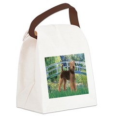 Bridge - Airedale #6 Canvas Lunch Bag