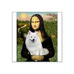 MonaLisa-AmEskimoDog Square Sticker 3