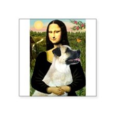 "MonaLisa-AnatolianShep2 Square Sticker 3"" x 3"""