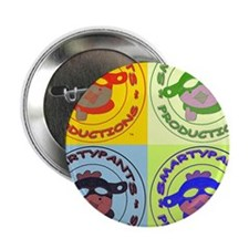 """2x2 Popart Smarty 2.25"""" Button"""