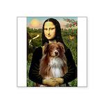 MonaLisa-AussieShep #4 Square Sticker 3