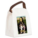 MonaLisa-Two Aussie Sheps. Canvas Lunch Bag