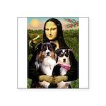 MonaLisa-Two Aussie Sheps. Square Sticker 3