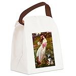 Windflowers-AussieShep (L) Canvas Lunch Bag