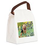 Irises - Aussie Terrier Canvas Lunch Bag