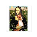 Mona Lisa-Basenji #1 Square Sticker 3