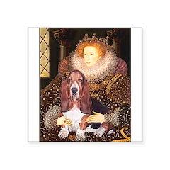 Queen & Basset Square Sticker 3
