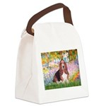Basset in the Garden Canvas Lunch Bag