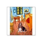 Room with a Basset Square Sticker 3