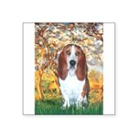 Monet's Spring & Basset Square Sticker 3