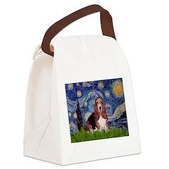 Starry / Basset Hound Canvas Lunch Bag