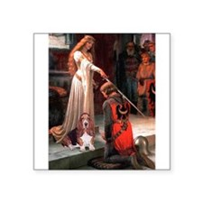 "The Accolade & Basset Square Sticker 3"" x 3"""