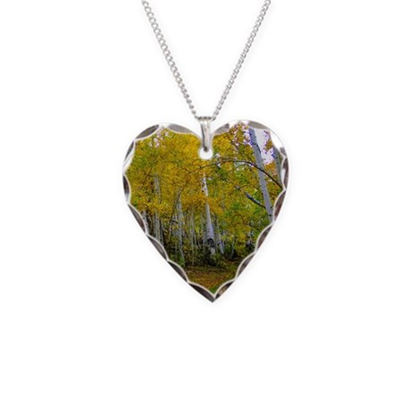 Autumn Yellow Necklace Heart Charm