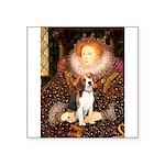 Queen / Beagle (#1) Square Sticker 3