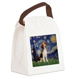 Starry Night / Beagle Canvas Lunch Bag