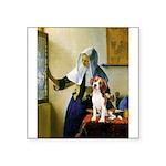 Woman w/Pitcher - Beagle Square Sticker 3