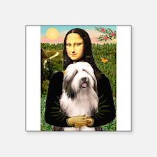 "Mona / Bearded Collie #1 Square Sticker 3"" x 3"""