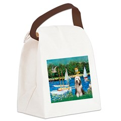 Sailboats / Beardie #1 Canvas Lunch Bag