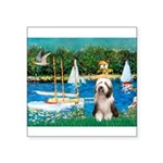 Sailboats / Beardie #1 Square Sticker 3