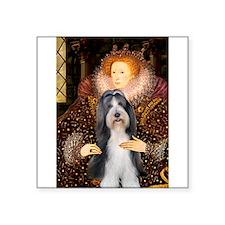 "Queen / Beardie #6 Square Sticker 3"" x 3"""