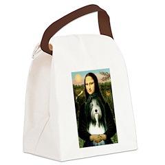 Mona / Bearded Collie Canvas Lunch Bag