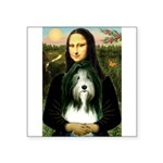 Mona / Bearded Collie Square Sticker 3