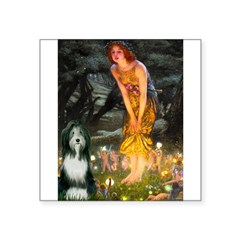 Fairies / Bearded Collie Square Sticker 3