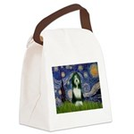 Starry Night /Bearded Collie Canvas Lunch Bag