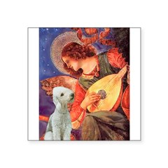 "Angel / Bedlington T Square Sticker 3"" x 3"""