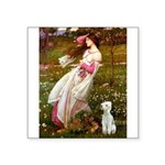 Windflowers/Bedlington T Square Sticker 3