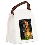 Fairies /Belgian Sheepdog Canvas Lunch Bag