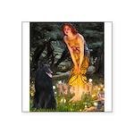 Fairies /Belgian Sheepdog Square Sticker 3