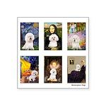 FamousArt-BichonFrise-CLEAR.png Square Sticker 3