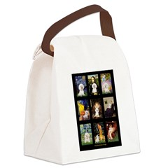 Bichon Masterpieces (A) Canvas Lunch Bag
