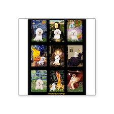 """Bichon Masterpieces (A) Square Sticker 3"""" x 3"""""""