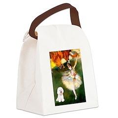 Ballet Dancer & Bichon Canvas Lunch Bag