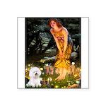 Fairies & Bichon Square Sticker 3