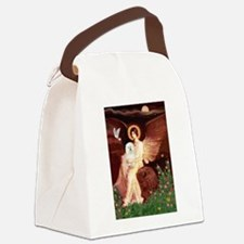 Seated Angel & Bolognese Canvas Lunch Bag