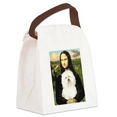 Mona and her Bolognese Canvas Lunch Bag